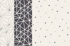 Triangles. Seamless Patterns. Set 1 by Curly_Pat on Creative Market