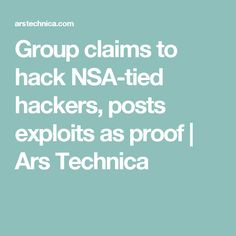 security group claims hack tied hackers posts exploits proof