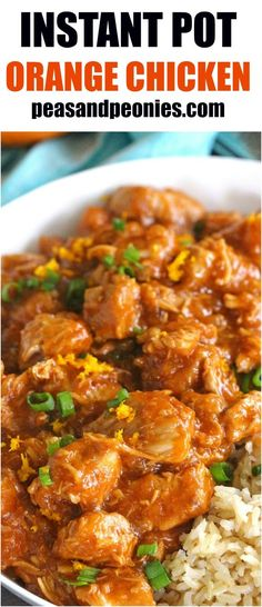 Instant Pot Orange Chicken is healthier than takeout and easy to make using your Instant Pot. Made with fresh orange juice and orange zest for great flavor.