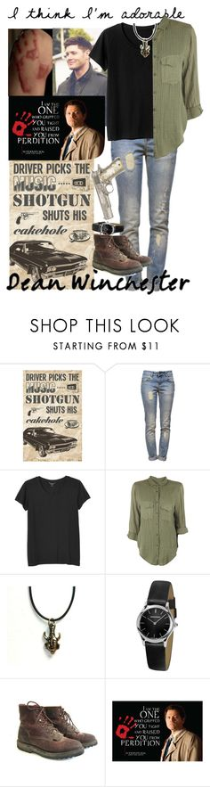"""Dean winchester"" by lexi47j ❤ liked on Polyvore featuring Anine Bing, Monki, Raquel Allegra, Emporio Armani and Hot Topic"