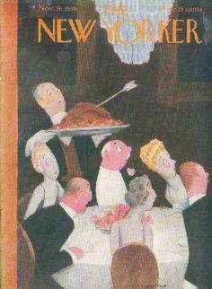The New Yorker cover - November 26, 1938 - Thanksgiving