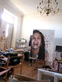 Pascale Taurua in her French art studio #workspace. #atelier www.saatchiart.com/taurua