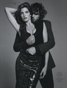 nu-wproject: Marlon Teixeira and Stephanie Seymour are photographed by Terry Richardson and styled by Mel Ottenberg in the story 'Un Homme et Une Femme' for the Fall/Winter issue of Vogue Hommes International. Marlon Teixeira, Stephanie Seymour, Terry Richardson, Couple Photography Poses, Fashion Photography, Style Photoshoot, Fitness Photoshoot, Photoshoot Ideas, Elite Model
