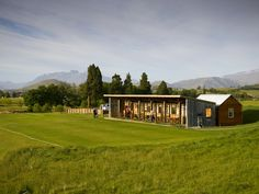 Driving range at Millbrook Resort which is undercover and has heating. The building use to be a farm wool-shed before it was renovated! Millbrook Resort, Golf Hotel, Golf Range, Sport Park, Undercover, New Zealand, Golf Courses, Yard, Sands