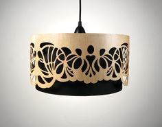 Everything in this shop is amazing!   Lampshade made of wood with cutouts / Handmade by minjonshop, €279.00