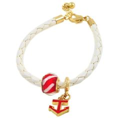 "Braided White Rubber Cord Nautical Bracelet 8 1/4"" Boxed 164) ($11) ❤ liked on Polyvore featuring jewelry, bracelets, white bangle, nautical jewelry, rubber bangles, woven jewelry and wide bangle"