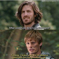 I'd go get you honeyyyy! I'd go get you honeyyyy! Merlin Show, Merlin Fandom, Gwaine Merlin, Merlin Memes, Merlin Funny, Sherlock, Merlin And Arthur, Bradley James, Harry Potter