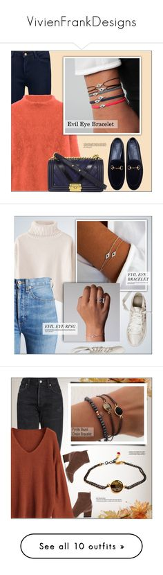 """VivienFrankDesigns"" by monmondefou ❤ liked on Polyvore featuring vivienfrankdesigns, Chanel, Gucci, RE/DONE, jewelry, Citizens of Humanity, Jimmy Choo, By Malene Birger, Chloé and Aquazzura"