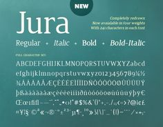 Jura | Font