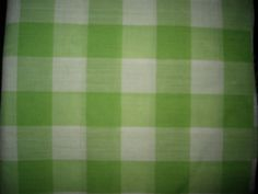 Green and White Checked Cotton Fabric/Squares/Half Yard