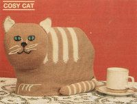 Cosy cat - vintage tea cosy knitting pattern