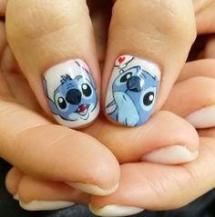 My fav - disney nail designs, gel nail designs Nail Art Disney, Disney Acrylic Nails, Best Acrylic Nails, Summer Acrylic Nails, Trendy Nail Art, Cute Nail Art, Cute Nails, Nail Art Designs, Disney Nail Designs