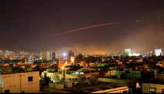 Damascus skies erupt with anti-aircraft fire as the U. launches an attack on Syria targeting different parts of the Syrian capital Damascus, Syria, early Saturday, April Syria's capital has been rocked by loud explosions that lit up the. Donald Trump, Bashar Assad, Chemical Plant, Chemical Weapon, Military News, Al Jazeera, Navy Ships, Pentagon, Damascus
