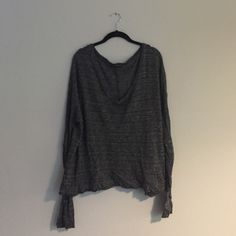 Heather grey Brandy sweater Super soft sweater. One hole in shoulder seam but otherwise great condition Brandy Melville Sweaters Crew & Scoop Necks