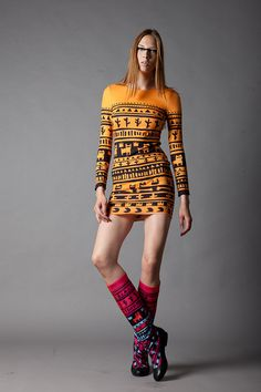 Orange Tribe dress. $100.00, via Etsy.