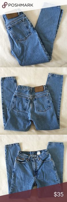 Vintage Calvin Klein High Waisted Jeans vintage Calvin Klein jeans double stone wash, five pocket jeans, in great used condition, size 2 P, inseam 27 inches, rise 10.5 inches, waist 23- 24 inches Calvin Klein Jeans