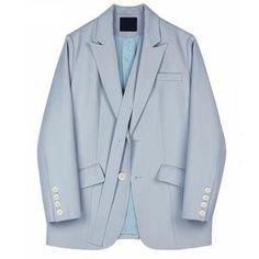 Women Blue Brief Stitch Blazer New Lapel Long Sleeve Loose Fit Jacket Fashion Tide Women Blazer, Blazers For Women, Coats For Women, Hot Shorts, Jacket Style, Blazer Jacket, Work Wear, Mini Skirts, Dating