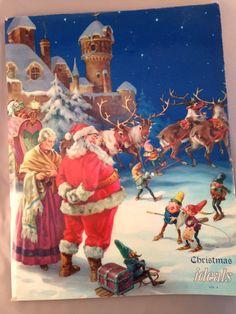 Vintage Christmas Ideals Magazine Vol 4 1947 George Hinke Art, Christ, Madonna, North Pole, Santa, Mrs Claus, Reindeer, Elves, Van B Hopper
