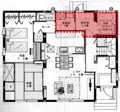 Japanese House, House Plans, Sweet Home, Floor Plans, Diagram, Flooring, How To Plan, Architecture, Arquitetura