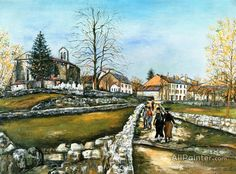 Maurice Utrillo Landscape At Saint-pierre-de-bost, In Creuse oil painting reproductions for sale
