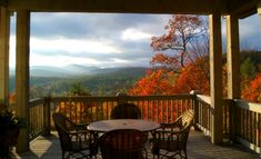 view of the mountains from the porch