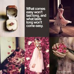 What lasts long won't come easy