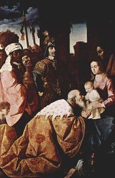 Los Tres Magos de Oriente: La Adoración de los Magos, de Francisco de Zurbará...
