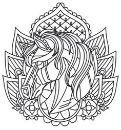 Gifted with a fiery spirit, the horse signifies independence, freedom, and the… Coloring Book Pages, Coloring Sheets, Free Adult Coloring, Urban Threads, Leather Carving, Art Pages, Pyrography, Pattern Art, Line Drawing