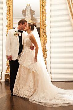 Classic Elegant Winter Wedding with a Ballerina Bun for the Bride - Bridal Musings Wedding Blog