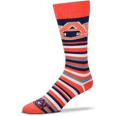 For Bare Feet Auburn University Lotta Stripe Thin Knee High Dress Socks (Navy, Size One Size) - NCAA Licensed Product, NCAA Novelty at Academy Sports