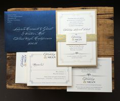 2484 Best Navy Wedding Invitations Images On Pinterest Wedding