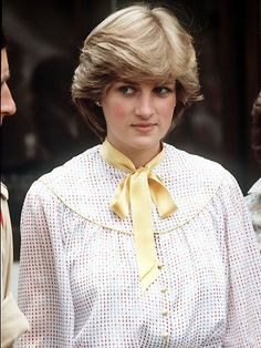 Lady Diana Spencer She had worn this dress with a hat to watch the Queen present the colours to the Welsh Guards at Windsor castle on 14 May. Today she went hatless for a visit to the Cheshire regiment at Tidworth