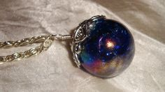 Stunning blue magical orb necklace beautiful by JewelrybyDimples, $35.00