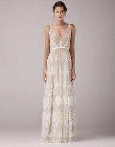 Robe de mariée de princesse empire