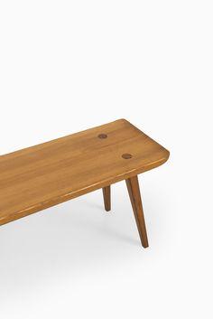Carl Malmsten bench in pine by Svensk fur at Studio Schalling