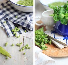 Cremige Erbsen und Minze-Suppe