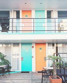 Discover fun pops of color at San Francisco's retro Phoenix Hotel.