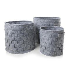 York Felt Baskets Set of 3
