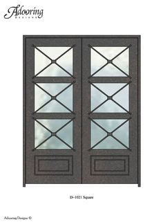 Wood and Wrought Iron Door: Milan Full Lite Mahogany Door ...