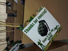 12 CAMO PARTY FAVOR TAGs army party birthday decor thank you tags decoration camouflage grenade Paintball Birthday, Army Birthday Parties, Army's Birthday, Birthday Ideas, Camouflage Party, Camo Party, Soldier Party, Military Party, Party Favor Tags