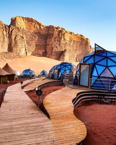 """Instagram Marketing Agency 🚀 on Instagram: """"Is this Mars? 🪐 No! This awesome place is a resort in Wadi Rum, Jordan🔥🇯🇴 Tag someone you would like to be there with! ❤️👇🏽 • • 😱 Click…"""" Wadi Rum, Luxury Camping, Luxury Travel, Places To Travel, Places To Visit, Travel Destinations, Bubble Tent, Jordan Photos, Desert Life"""