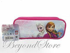1 X Disney Frozen Princess Elsa and Anna Pink Pencil Case Pouch Bag by Beyondstore @ niftywarehouse.com #NiftyWarehouse #Disney #DisneyMovies #Animated #Film #DisneyFilms #DisneyCartoons #Kids #Cartoons