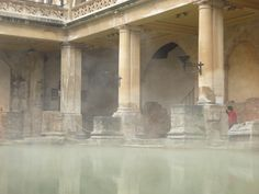 Roman bath in Bath England...Had a great time here today with my little man!