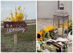 Sunflower Wedding Color Inspiration