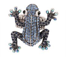 aquamarine ring, frog ring, oxidized eff  ect ring, pave rhinestone ring, silver tone ring, stretch ring, wild animal ring