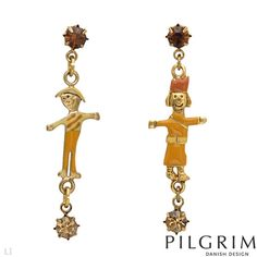 PILGRIM Crystal Earrings from Contemporary Designer Jewelry