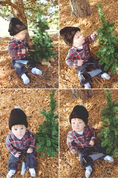 Little Boy Christmas Card Outtakes - Deanne Mroz Photography
