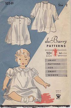 Vintage Sewing Pattern 1930s DuBarry 1034B by FloradoraPresents