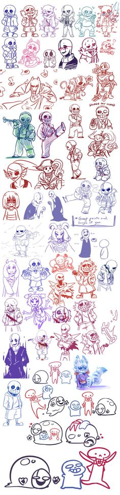 Undertale Doodles #6 by Guuchama