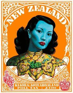 Chinese girl by Vladimir tretchikoff Poll Tax by Lester Hall for Sale - New Zealand Art Prints Poll Tax, Pin Up, Bay Of Islands, Maori Designs, New Zealand Art, Nz Art, Maori Art, Kiwiana, Vintage Posters